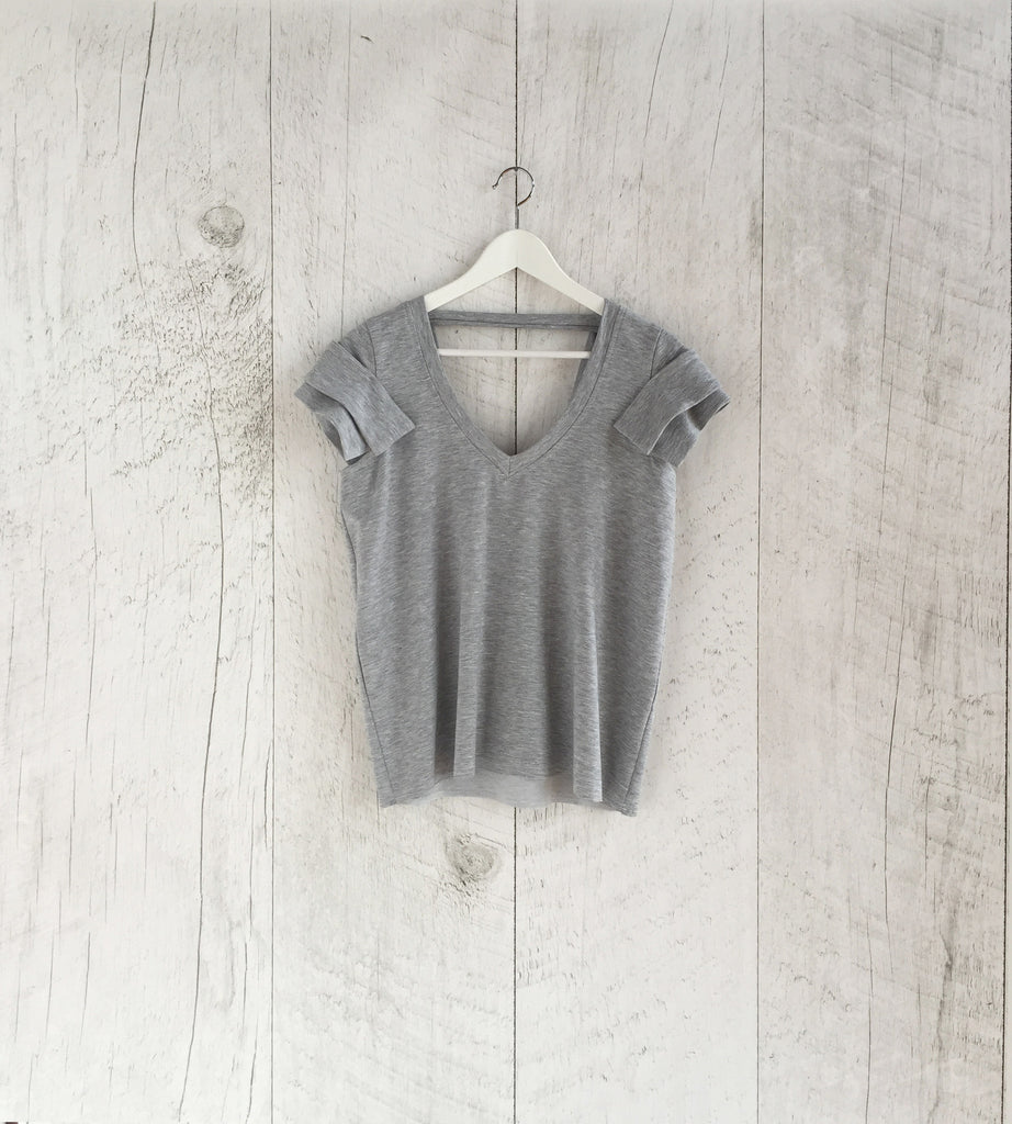 Grey Fleece Short Sleeve top by Faith & Love