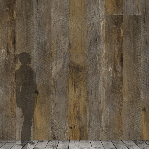 Barn Wood Brown Wallpaper - Papier Peint Bois de Grange Brun