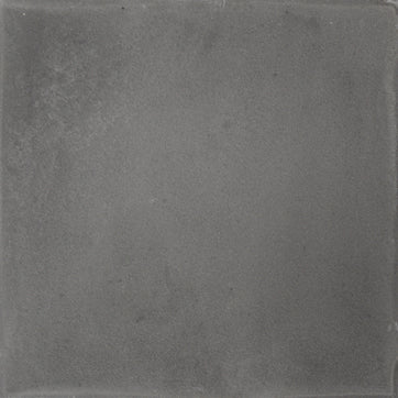 Square cement tile plain grey