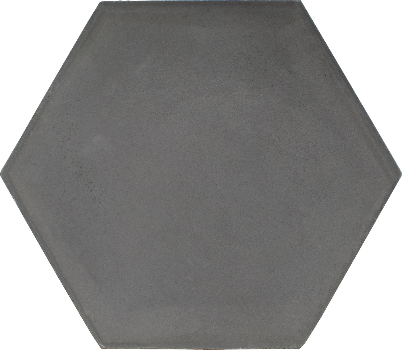 Hexagon cement tile plain Dark grey