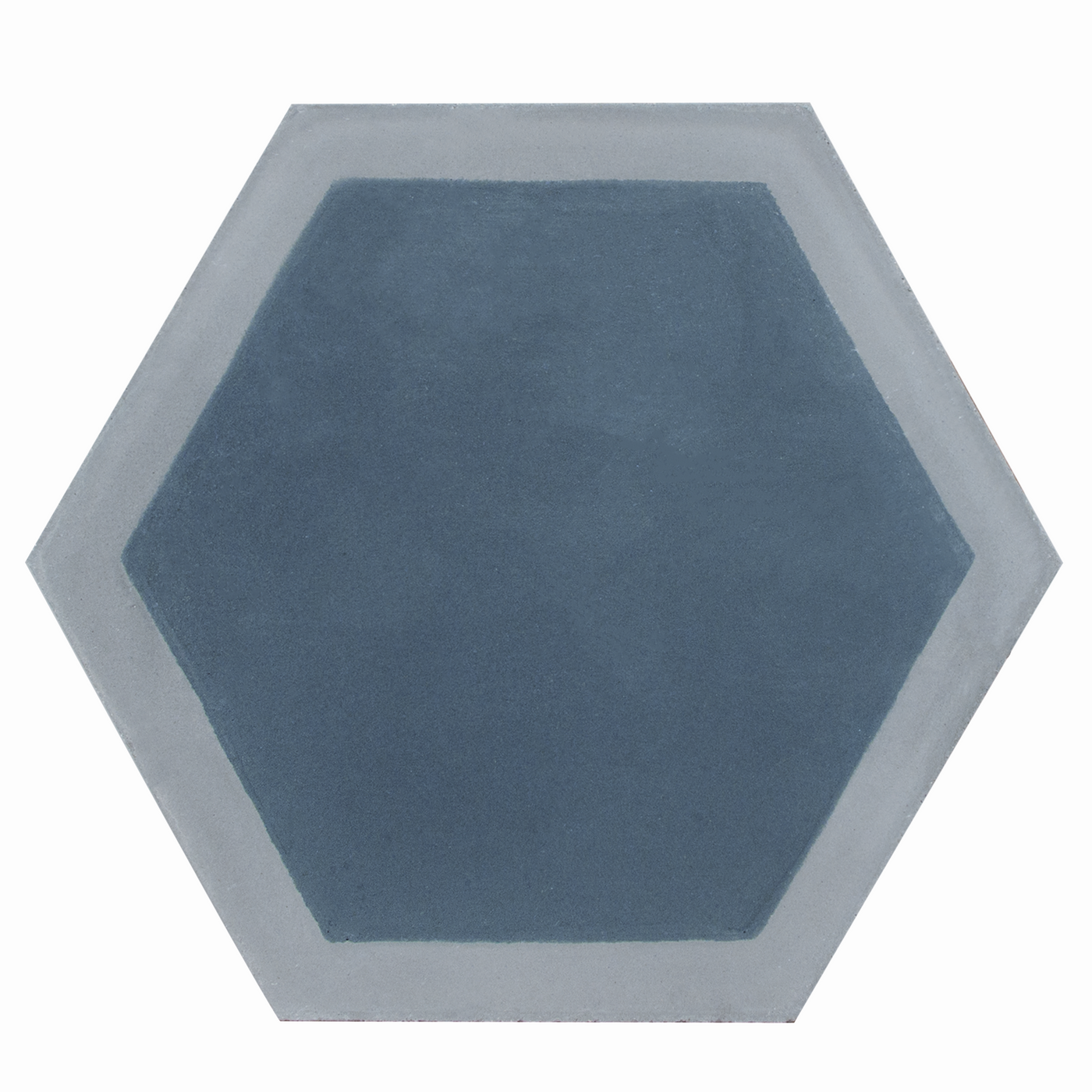 Hexagon cement tile pattern grey/dark blue