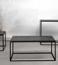 Center Coffee Table KUB Marble & Metal