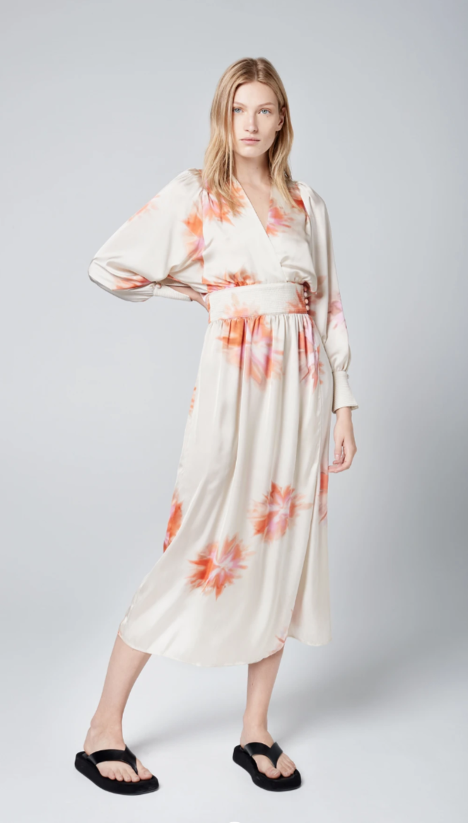 SMYTHE Wrap Dress in Tie Dye