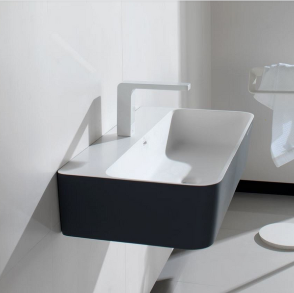 "SINK Wall mount white/black  24""x16"""