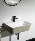SINK Wall mount white/black 35X50X17 cm