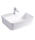 "SINK Wall mount white/black 13 3/4""x19 11/16"" corner"