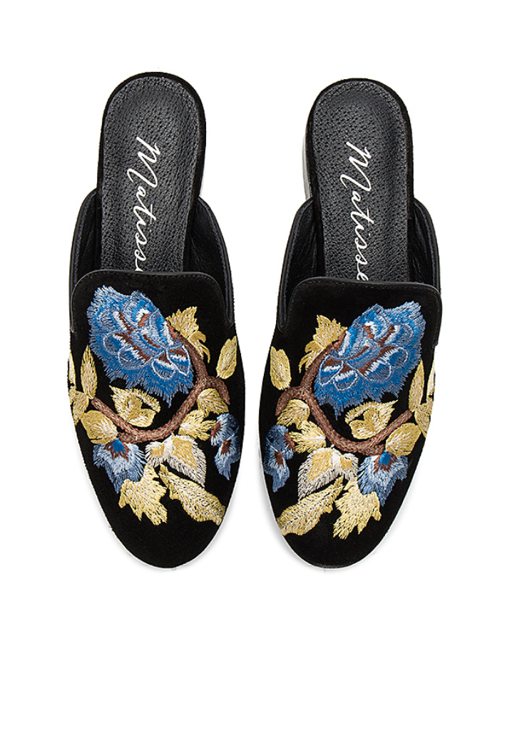 MATISSE STEP IN MULE EMBROIDERED