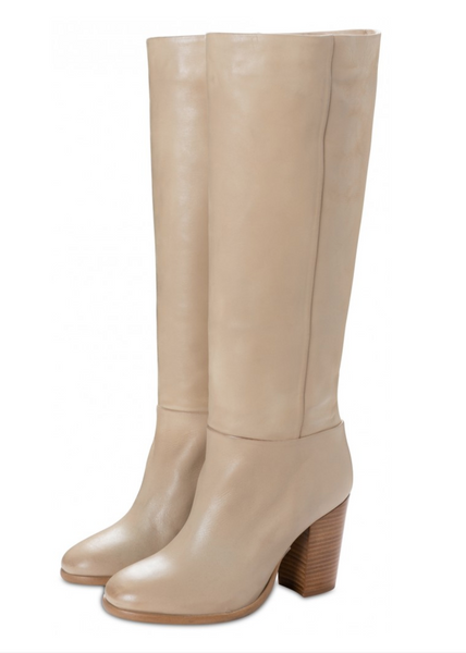 YAYA HIGH LEATHER BOOT SAND