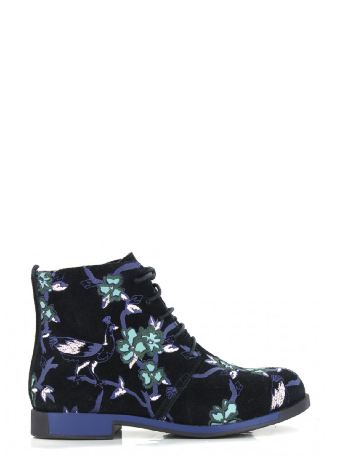 CAMPER LACED EMBROIDED BOOTIE