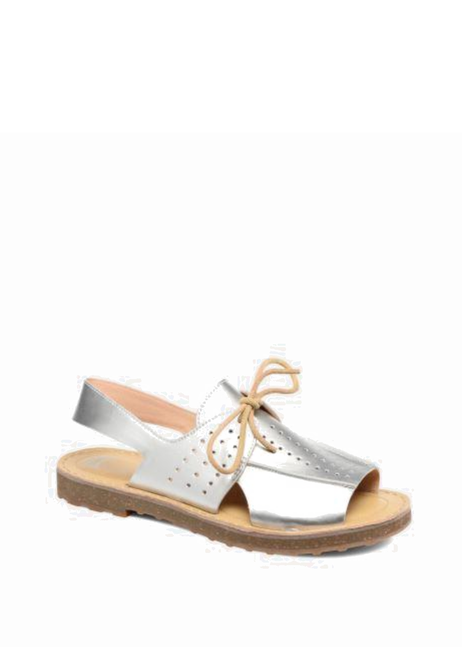 CAMPER LEATHER SERVOLUX SANDAL SILVER
