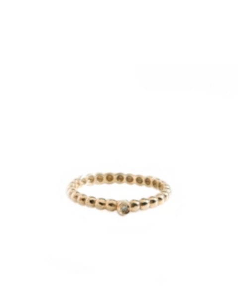 BEAD IT RING WITH DIAMOND Solid Gold