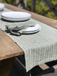 Handmade from super-soft runner and hand Towels Sage