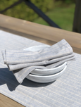 Handmade from super-soft runner and hand Towels Grey Blue