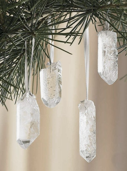 Set of 3 Quartz Ornaments