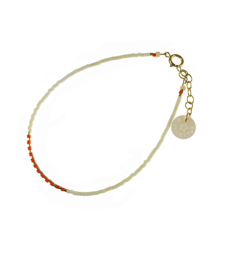Bracelet orange bead by Blinckstar