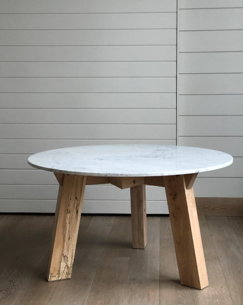 Round tripod Beam Table Marble