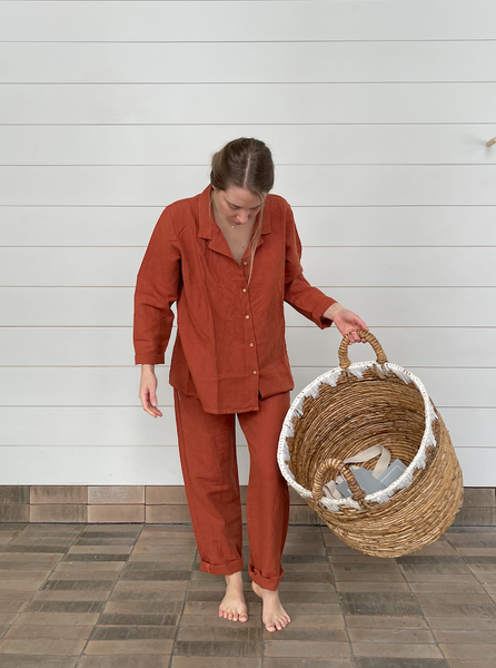 Soft Linen and Stylish Pyjama Paprika
