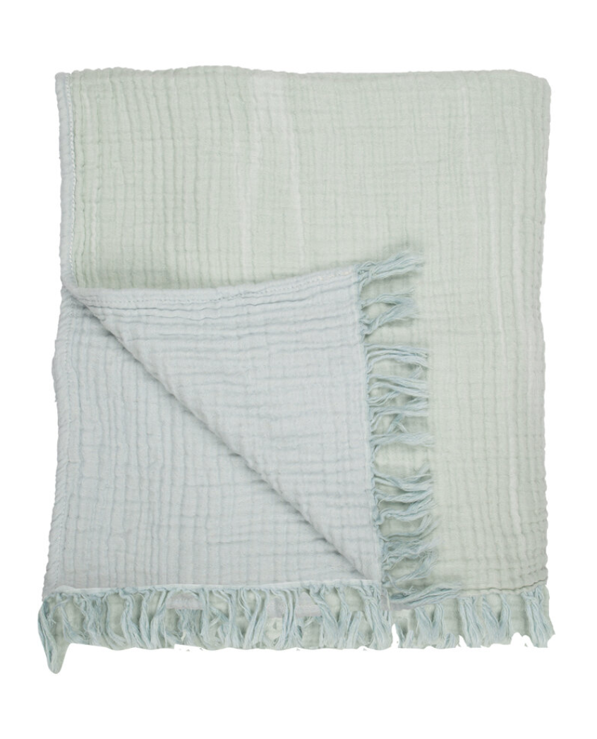 Cocoon Reversible Throw & Blanket Mint