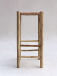 WOVEN LEATHER COUNTER TOP STOOL