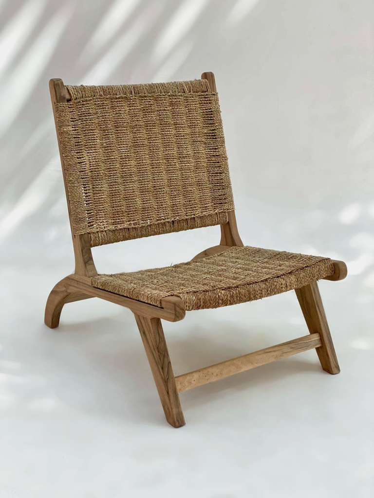Riad Wooden Wicker Lounge Chairs | Pre-Order