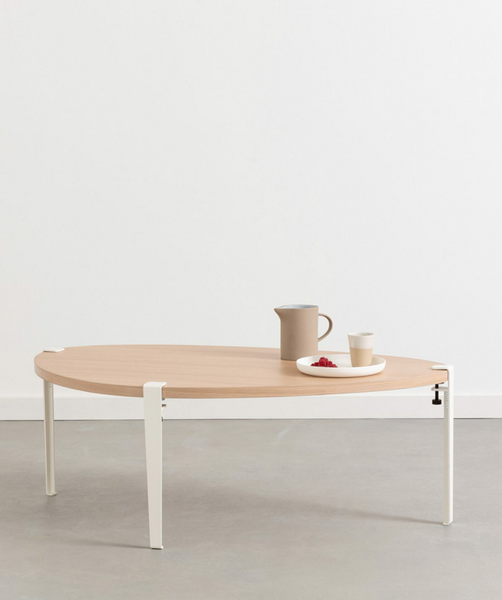 PEBBLE coffee table - eco-certified wood — 120 x 75cm