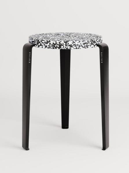 LOU stool in recycled plastic MACCHIATO by TIPTOE
