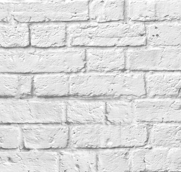 Classic white bricks wallpaper papier peint briques blanches classiq pepi - Brique decorative blanche ...