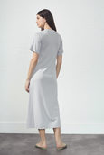 CASUAL T-SHIRT DRESS SILVER