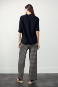 STRIPPED PULL ON TROUSERS