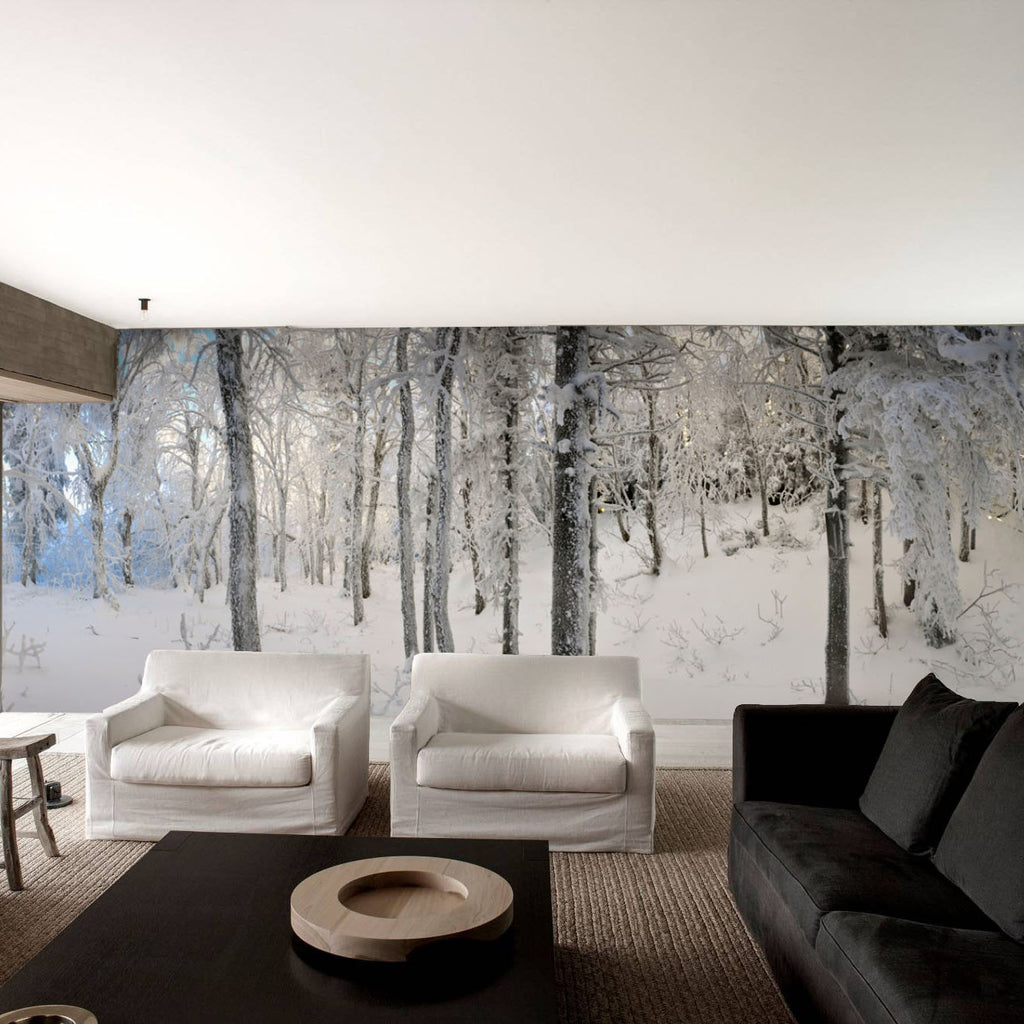 After a Soft Snowfall HD Mural