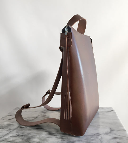 Back Pack Bag Brown Lysanne Pepin Limited édition Boathouse