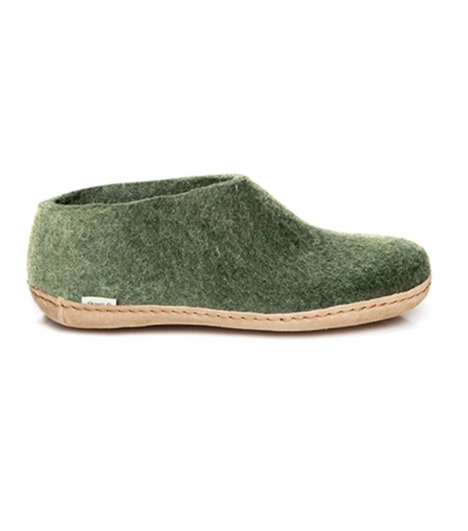 Glerups Forest Green Felt Shoes