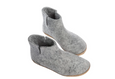 Glerups Grey Felt Low Boots