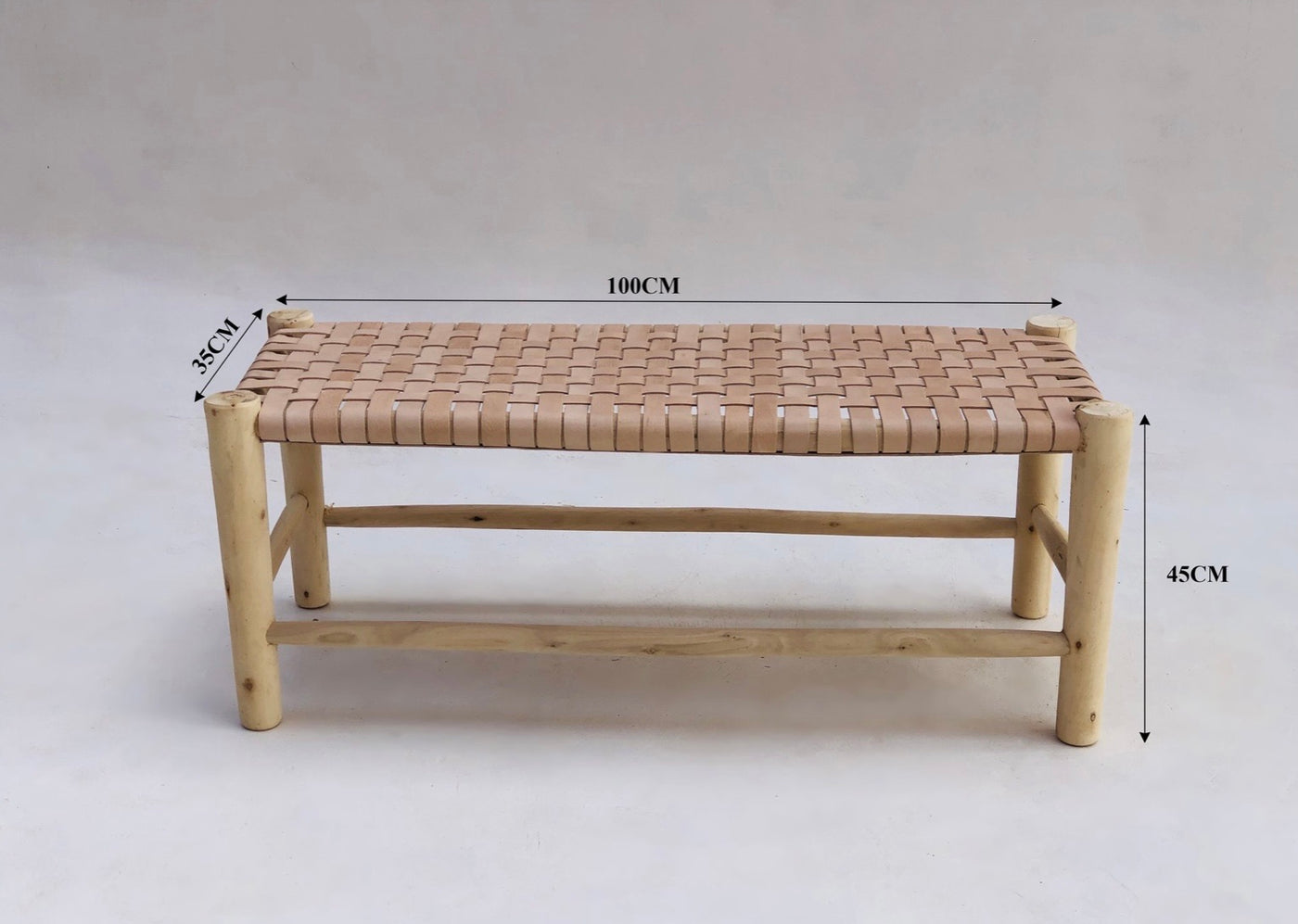 WOVEN LEATHER BENCH | Pre-Order