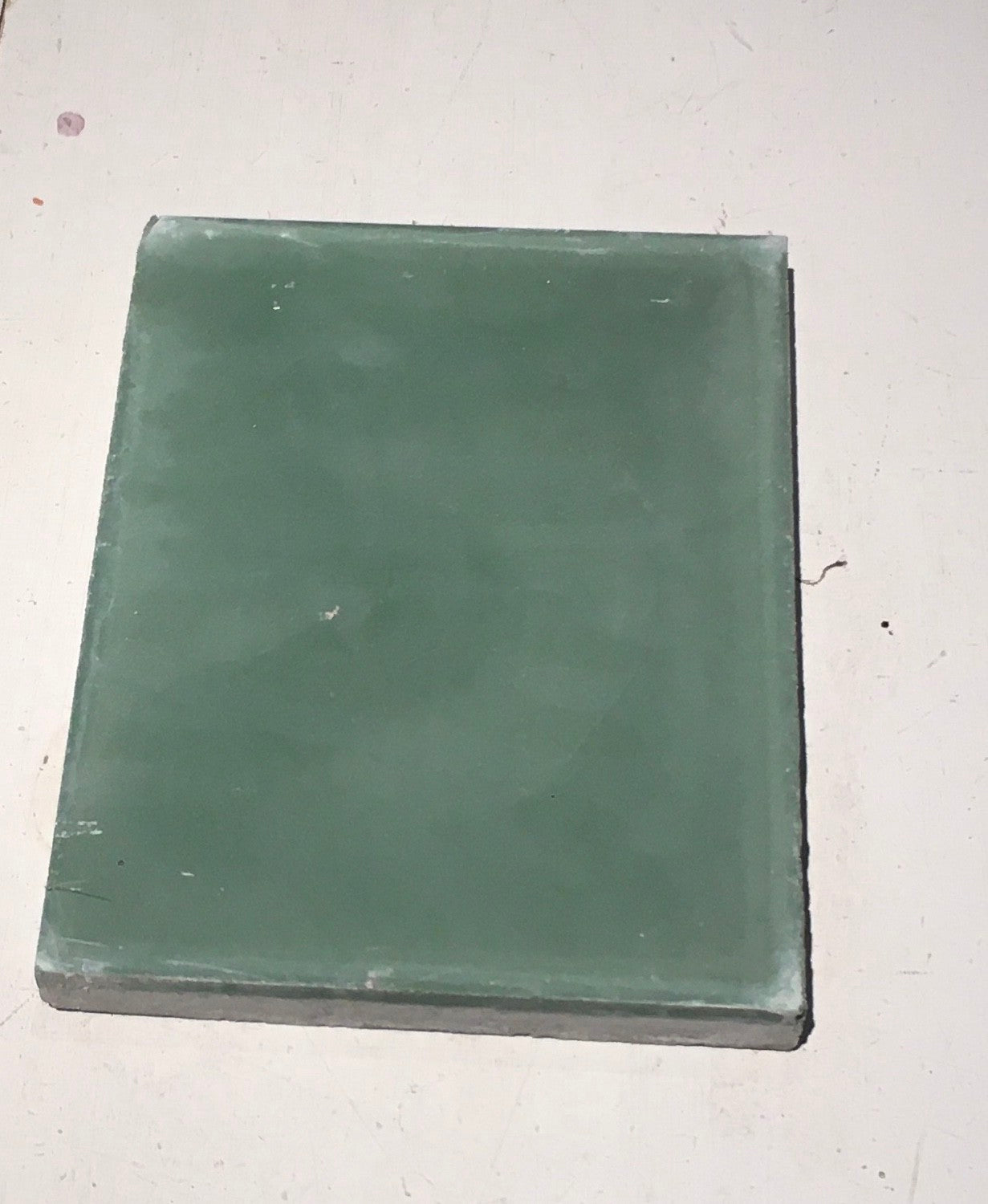 Rectangle cement tile green
