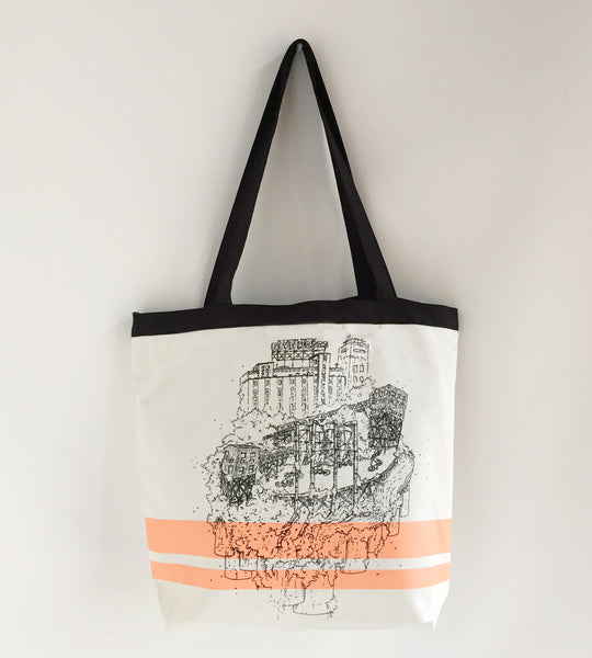 Shopping Bag Printed Five Roses Old Montreal Landmark