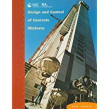 Design and Control of Concrete Mixtures, Kosmatka and Panarese, 14th Ed