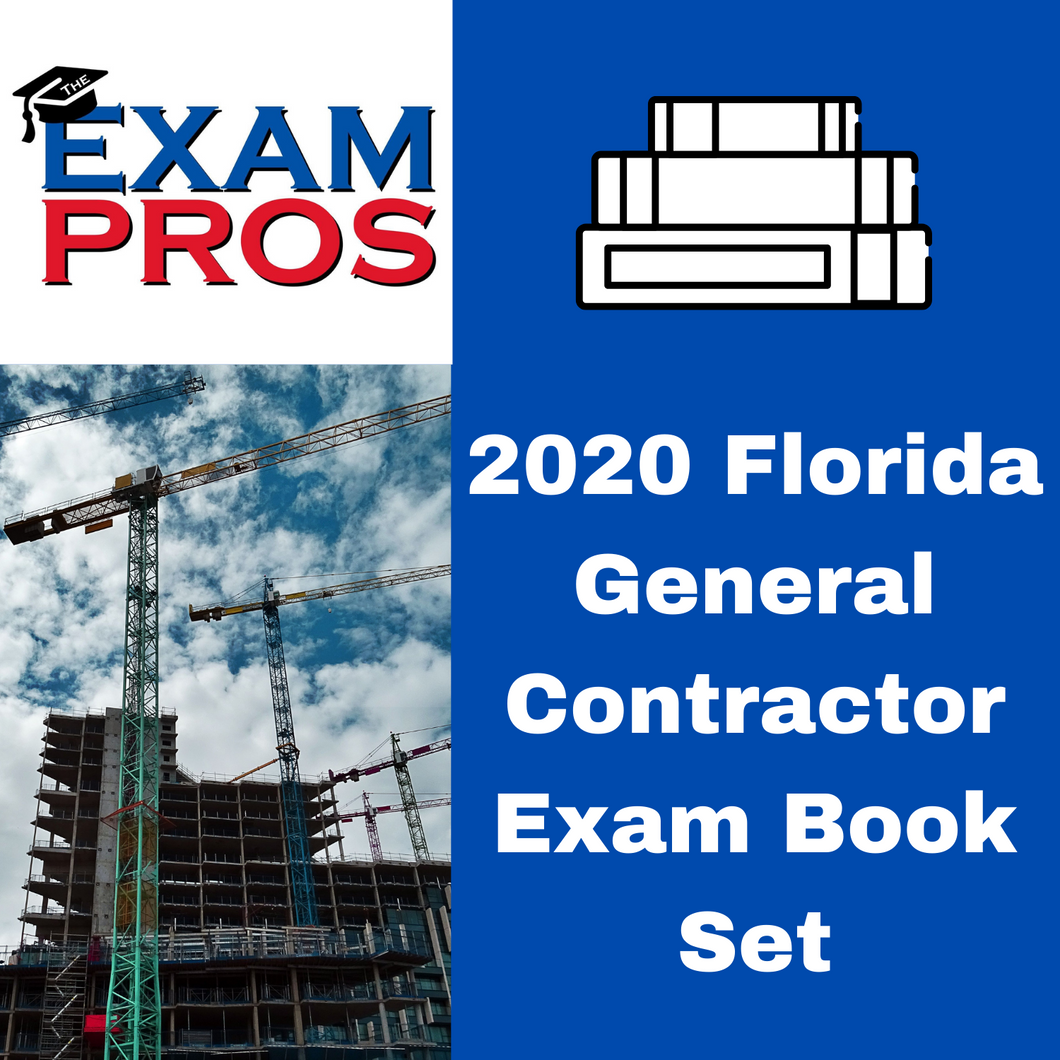 2020 Florida Business & General Contractor Exam Book Options