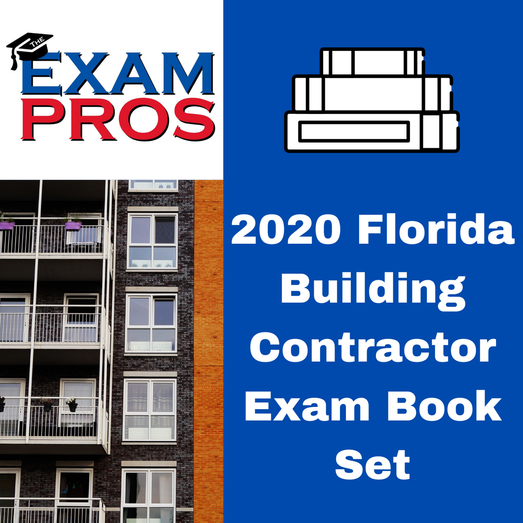 2020 Florida Business & Building Contractor Exam Book Options