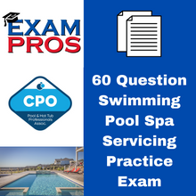 Load image into Gallery viewer, 60 Question Swimming Pool Spa Servicing Practice Exam