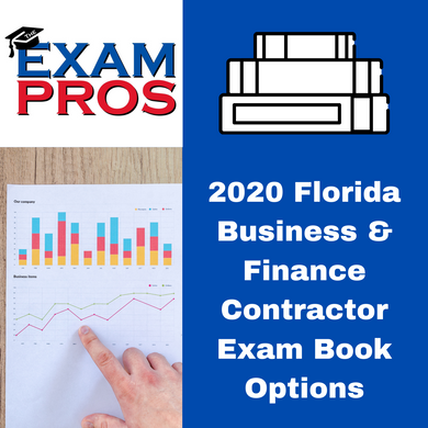 2020 Florida Business and Finance Contractor Exam Book Options