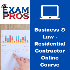 Business & Finance - Residential Contractor Online Home Study Course