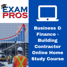 Load image into Gallery viewer, Business & Finance - Building Contractor Online Home Study Course