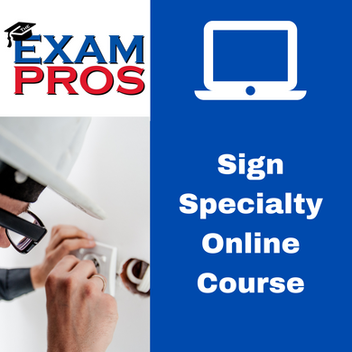 Sign Specialty Contractor Online Home Study Course