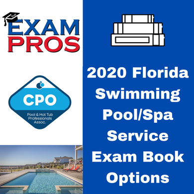 2020 Florida Swimming Pool/Spa Service Exam Book Options
