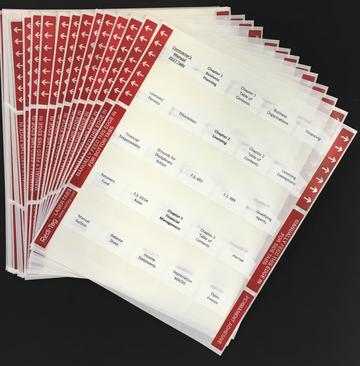PRE PRINTED TABS FOR NASCLA ACCREDITED EXAMINATION; NATIONAL COMMERCIAL (GENERAL) BUILDING CONTRACTOR EXAMINATION