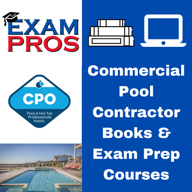Commercial Pool Contractor Books & Exam Prep Courses