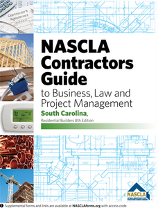 South Carolina-NASCLA Contractors Guide to Business, Law and Project Management, South Carolina Residential Builders, 8th edition Tab Bundle