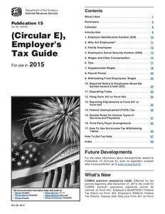 IRS Circular E, Employer's Tax Guide, Publication 15, Current Year Edition