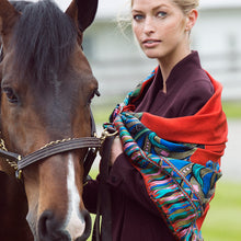 Load image into Gallery viewer, Red Silkhorse Signature Silk Twill Scarf